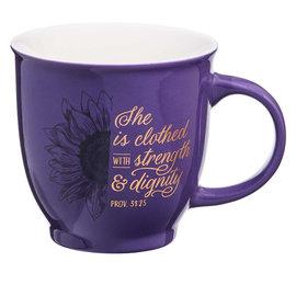 Mug - She is Clothed, Purple