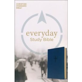 CSB Everyday Study Bible, Navy LeatherTouch