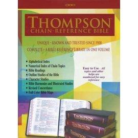 KJV Thompson Chain Reference Bible, Black Genuine Leather