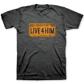 T-Shirt - Live 4 Him, License Plate