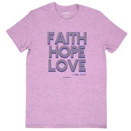 T-Shirt - Faith Hope Love, Retro