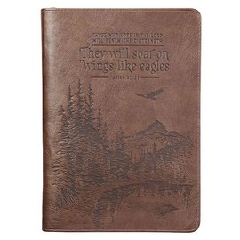 Journal - They Will Soar on Wings Like Eagles, Brown LuxLeather