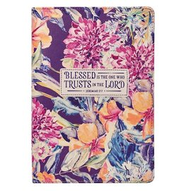 Journal - Blessed is the One, Floral LuxLeather
