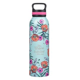 Stainless Steel Water Bottle - His Grace is Sufficient