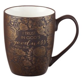 Mug - I Trust in God's Goodness, Brown with Gift Box