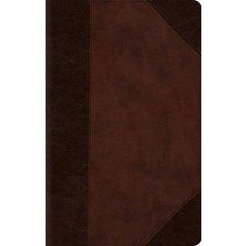 ESV Large Print Compact Bible, Brown/Walnut TruTone