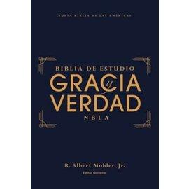 NBLA Gracia y Verdad Biblia de Estudio, De Tapa Dura