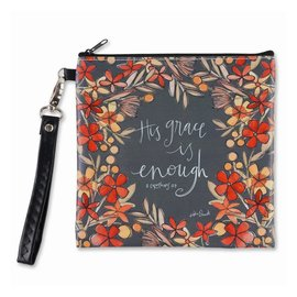 Zippered Bag - His Grace is Enough, Square
