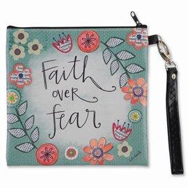 Zippered Bag - Faith Over Fear, Square