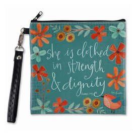 Zippered Bag - Strength & Dignity, Square