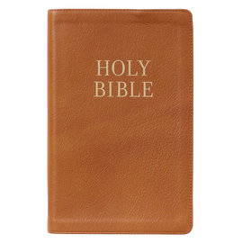 KJV Giant Print Bible, Brown Genuine Leather, Indexed