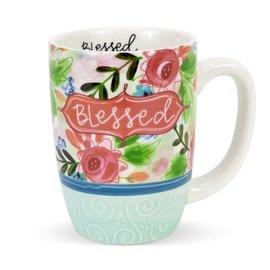 Mug - Blessed, Flowers