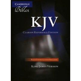 KJV Clarion Reference Edition Bible, Black Goatskin Leather