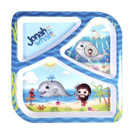 Divided Plate - Jonah and the Whale