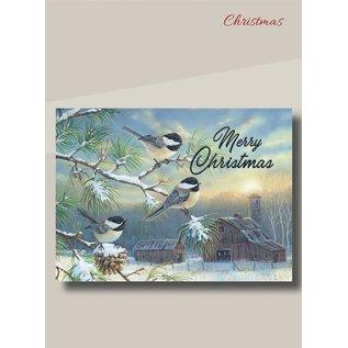 Boxed Christmas Cards - Farmland Chickadees