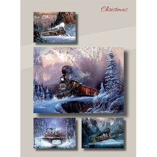Boxed Christmas Cards - Trains