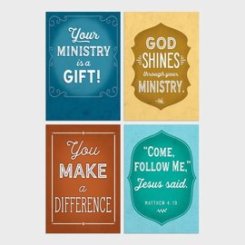 Boxed Cards - Ministry Appreciation, Bold Messages