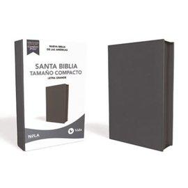 NBLA Letra Grande Tamano Compacto Santa Biblia, Imitación Piel Azul Marino