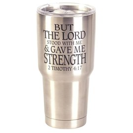 Stainless Steel Tumbler - But the Lord Stood, Silver