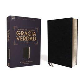 NBLA Biblia de Estudio Gracia y Verdad, Piel Regenerada Negra