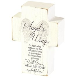 Tabletop Cross - Angel's Wings