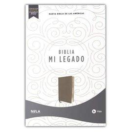 NBLA Una Columna Mi Legado Biblia, Gris Piel Imitacion