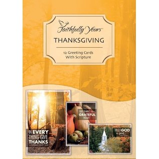 Boxed Cards - Faithfully Yours: Thanksgiving