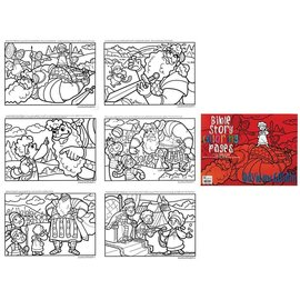 Bible Story Coloring Pages - David and Goliath, Reproducible