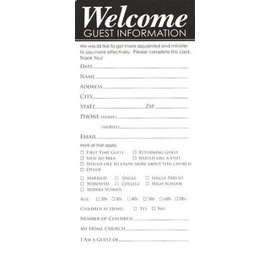 Guest Cards: Welcome (Pack of 50)