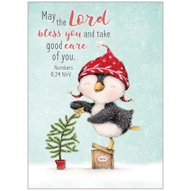 Boxed Christmas Cards - The Lord Bless You (Penguin), 20 Count