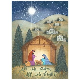 Boxed Christmas Cards - Manger in the Trees, 20 Count