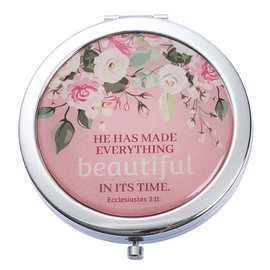 Compact Mirror - Everything Beautiful, Pink