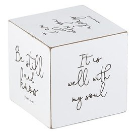 Quote Cube - Inspirational, White
