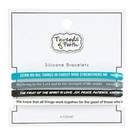 Silicone Bracelet Set - Threads of Faith