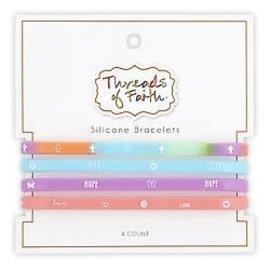 Silicone Bracelet Set - Rainbow