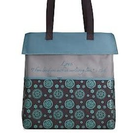 Tote Bag - Love, Turquoise