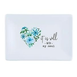 Soap Dish - It is Well, White
