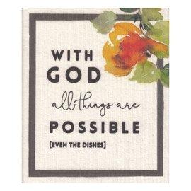 Dishcloth - With God, Organic