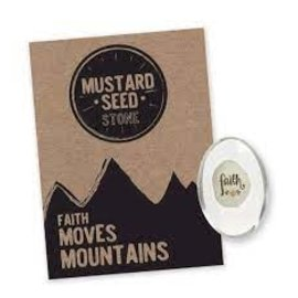 "Pocket Stone - Mustard Seed/Faith (1.25"")"
