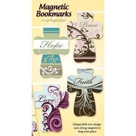 Magnetic Bookmarks -Hope Peace Love Faith, Cross