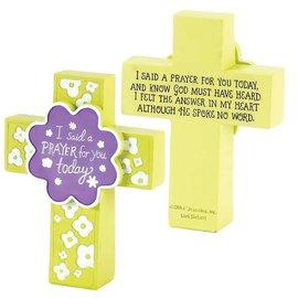 Tabletop Cross - I Said a Prayer, Flowers