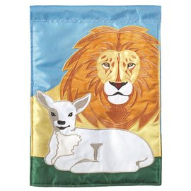 Garden Flag - Lion & Lamb