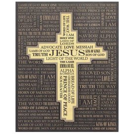Wall Art - Names of Jesus with Cross