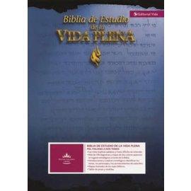 RVR 1960 Biblia de Estudio de la Vida Plena, Piel Especial Negra