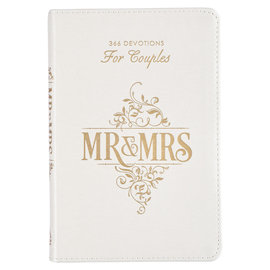 Mr. & Mrs. 366 Devotions For Couples, White  LuxLeather