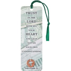 Bookmark - Trust in the Lord, Tassel w/Coin