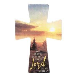 "Wall Cross - Rising Sun, Porcelain (9"")"
