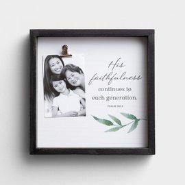 Photo Frame - His Faithfulness, with Clip
