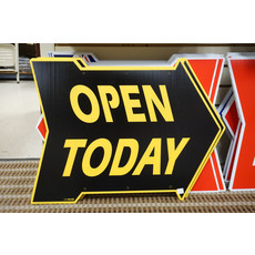 Open Today Di-Cut Arrow