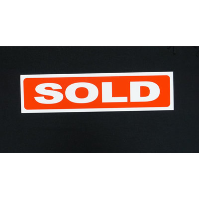 Sold RED with white letters